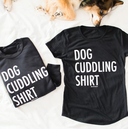 Dog Cuddling Shirt