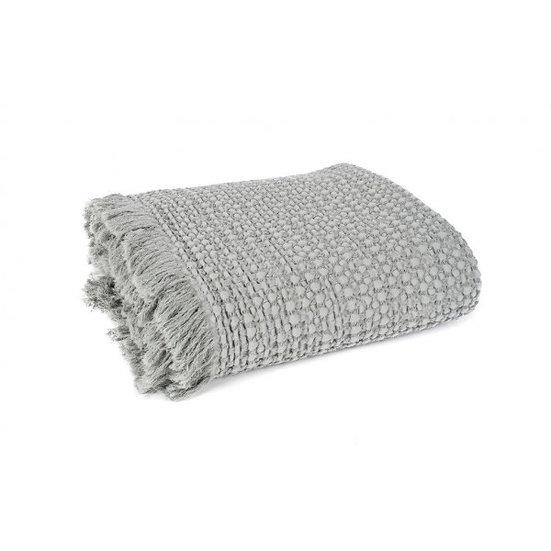 plaid en coton lavé silex
