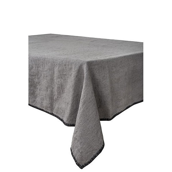 serviette de table en lin lavé granit