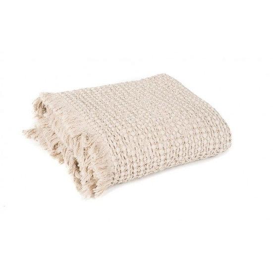plaid en coton lavé lin