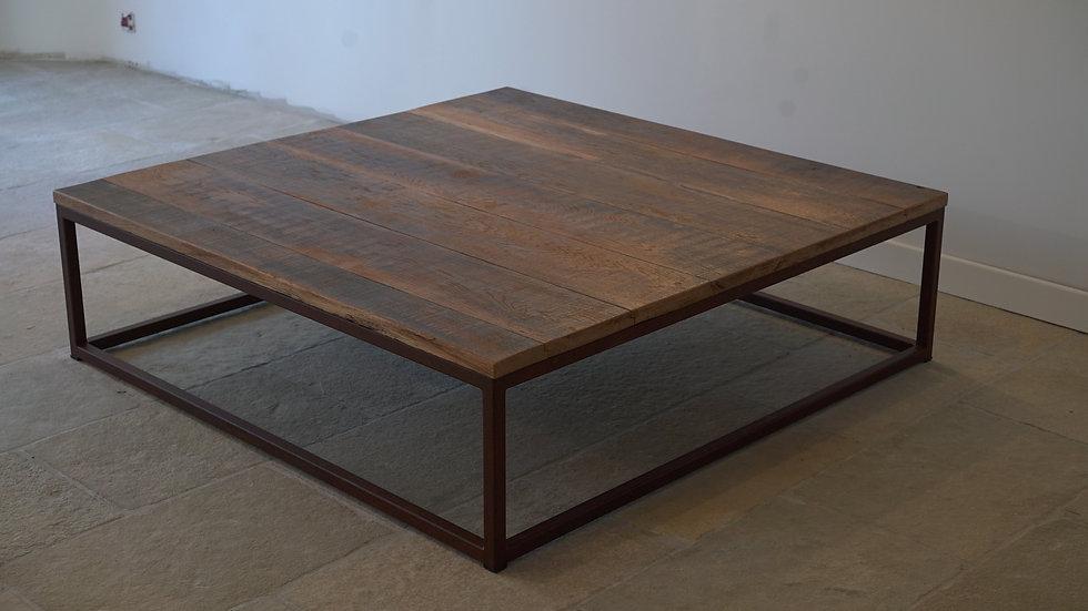 Table basse métal carré 30 et Chêne