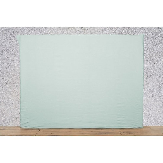 Housse de tête de lit 140x120 cm céladon