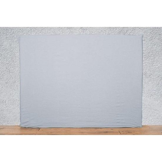 Housse de tête de lit 140x120 cm silex