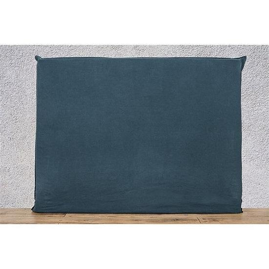 Housse de tête de lit 140x120 cm bleu de prusse