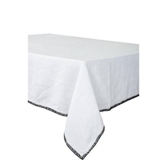 serviette de table en lin blanc