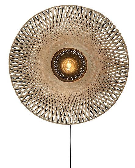 Lampe murale en bambou