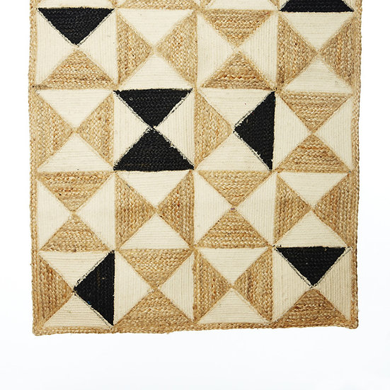 tapis coton jute 130x170 cm