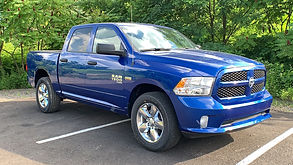 Example of a quality inventory photo of a blue truck