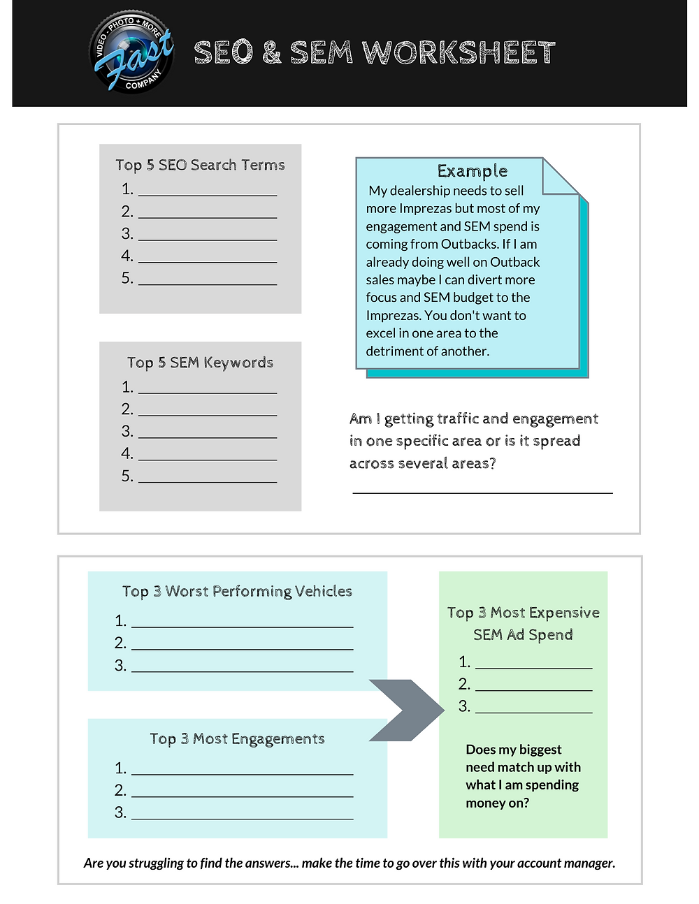 SEO and SEM Worksheet