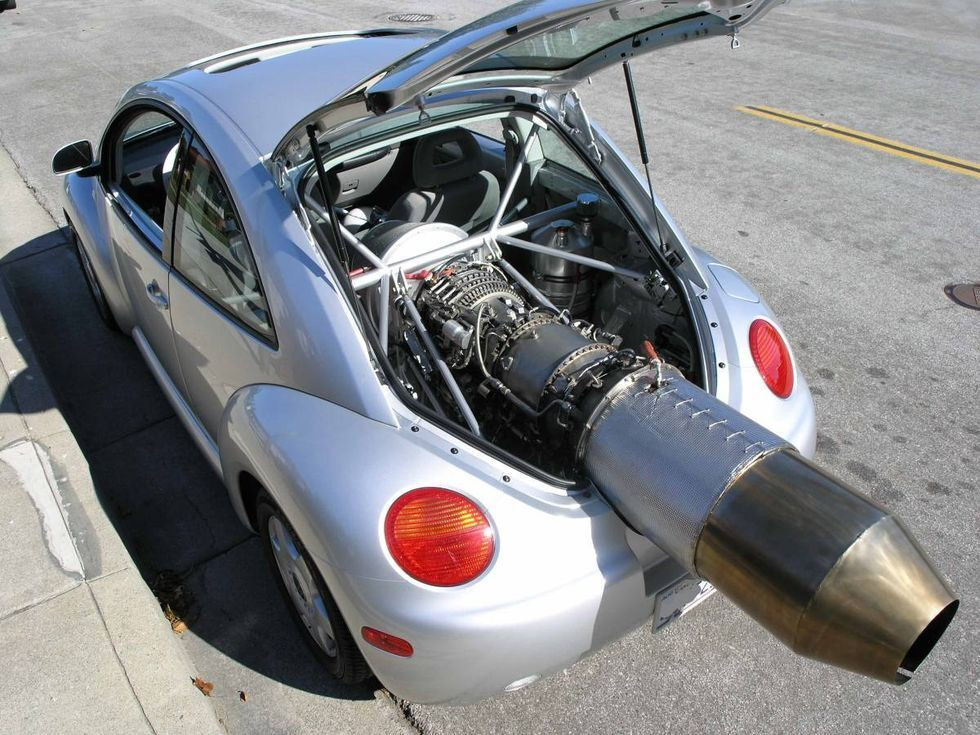 Modified VW Bug with a jet engine
