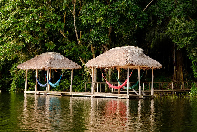 Mashi Refuge relaxing area in Madidi National Park