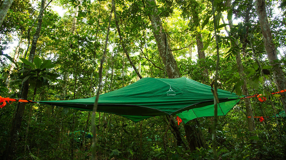 High quality tree-tents that follow European safety measures