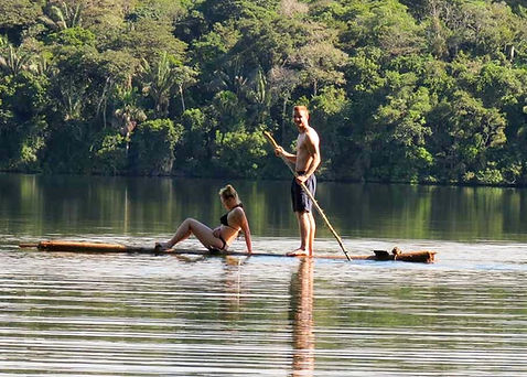 Paddle boarding in Madidi National Park