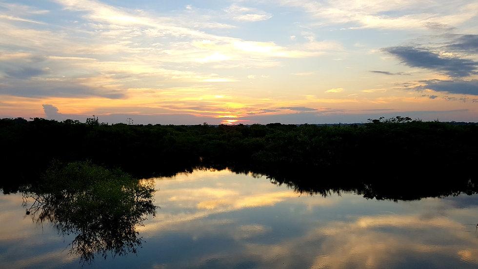 Beautiful sunset in Pampas