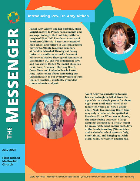 FUMC Messenger July Issue