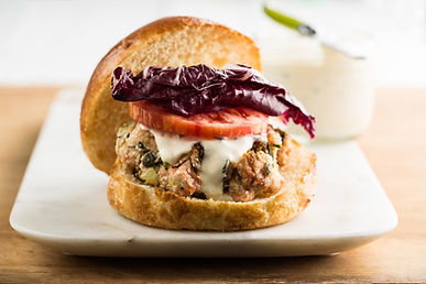 Succulent Salmon Burgers with Tarragon