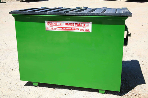 Permanent bin 1.5m3 — for businesses only