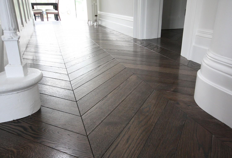 Chevron pattern flooring