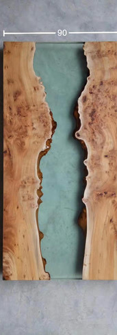 Burl with resin