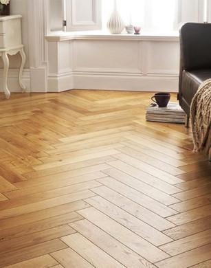 Herringbone pattern flooring
