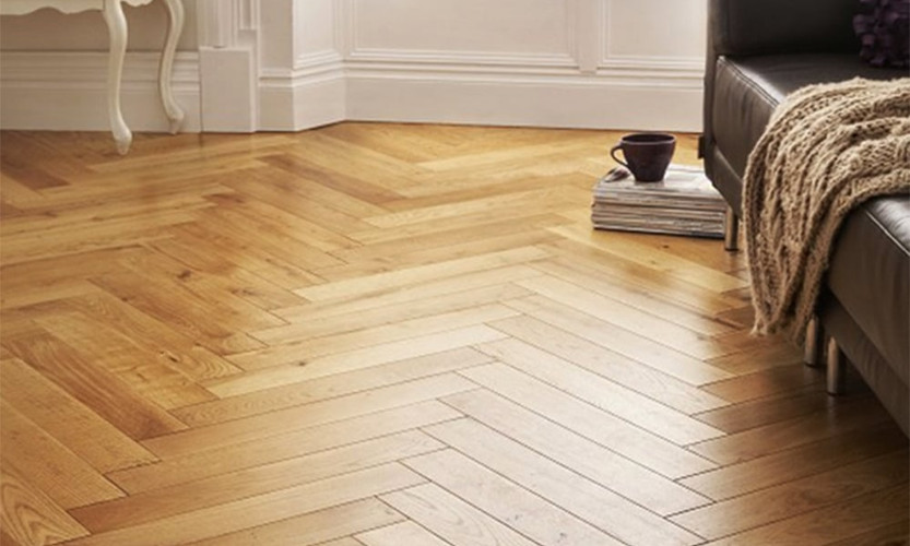 Herringbone pattern flooring