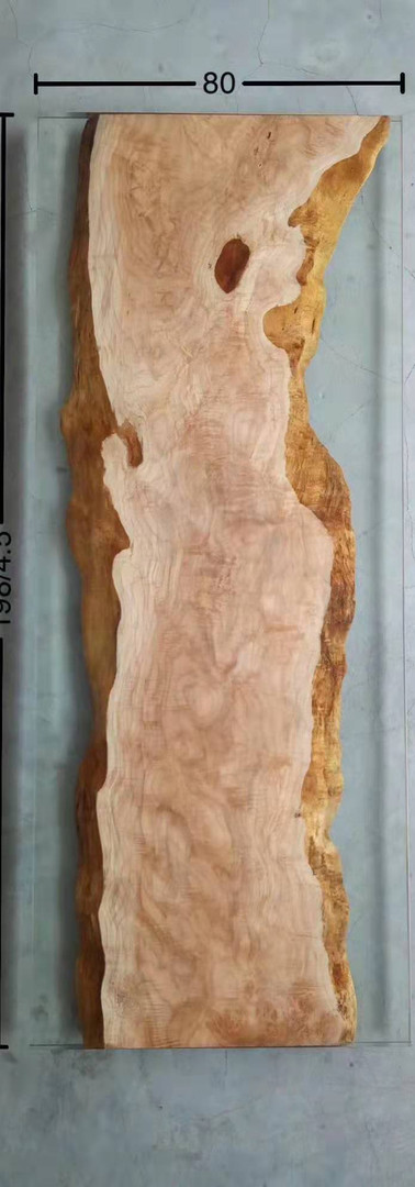 Maple with resin