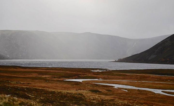 Loch Muick on a stormy autumns day
