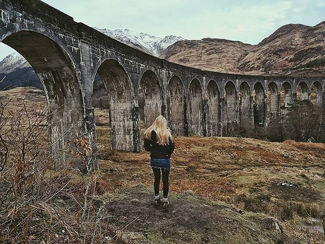 The famous 'Harry Potter Bridge' / Glenfinnan Viaduct, a short drive from our new job!