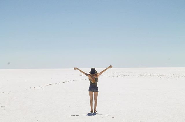 Visiting the amazing Lake Eyre on our day off