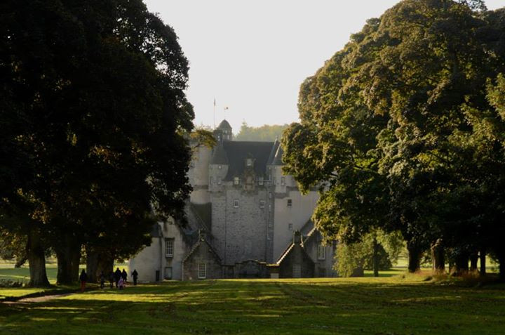 Castle Fraser in the beautiful spring light
