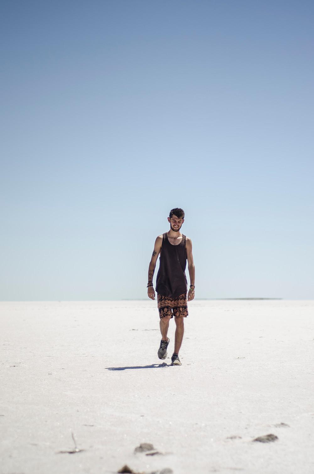 All alone on Lake Eyre, Sotuh Australia
