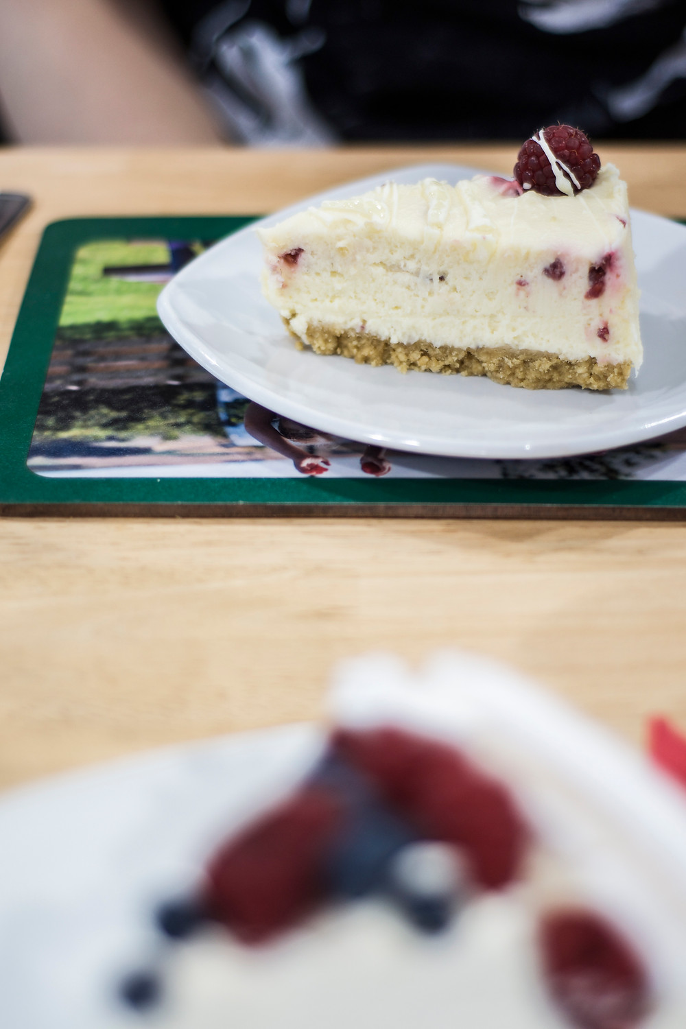 Delicious fresh scottish berry cheesecake at Castleton Farm, Aberdeenshire