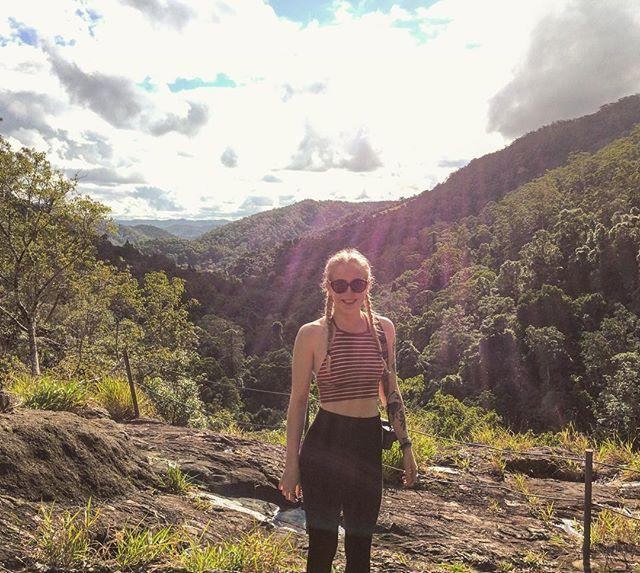 At the top of Kondalilla Falls