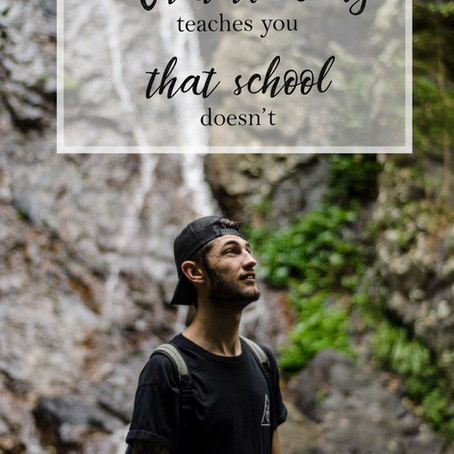 What traveling teaches you that school doesn't