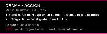 Seminario de Actuación para cámara Coordinado por Lucio Bazzalo