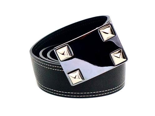 Black/Gunmetal Stud Belt