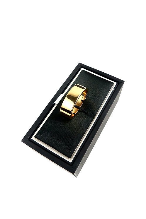 Polished Gold Tie Ring