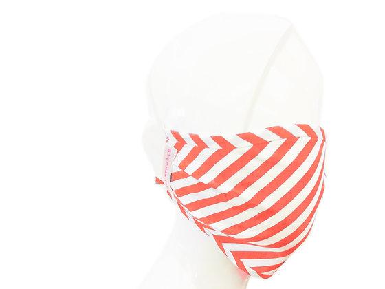 Apricot Striped Face Mask