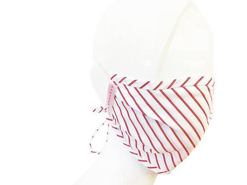 Diagonal Striped Face Mask