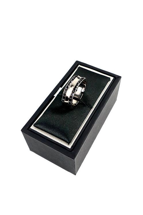 Swarovski Crystal Banded Tie Ring