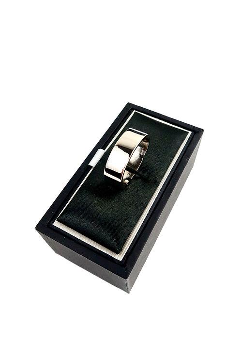 Polished Nickel Tie Ring