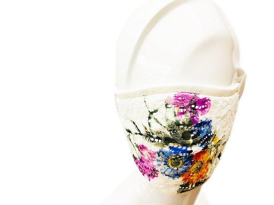 CARAS Signature Floral Lace Face Mask