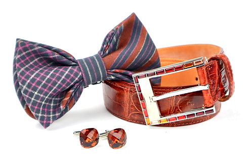 Bow Tie, Belt & Cufflink Set