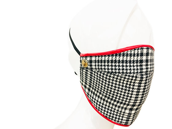 CARAS Signature Houndstooth Face Mask