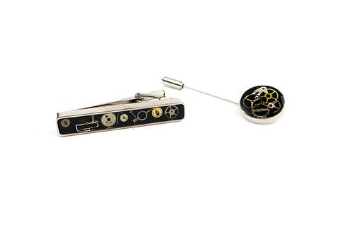 Tie Bar & Lapel Pin Set