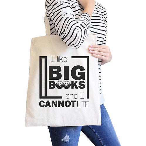 I Like Big Books Cannot Lie Canvas Bag