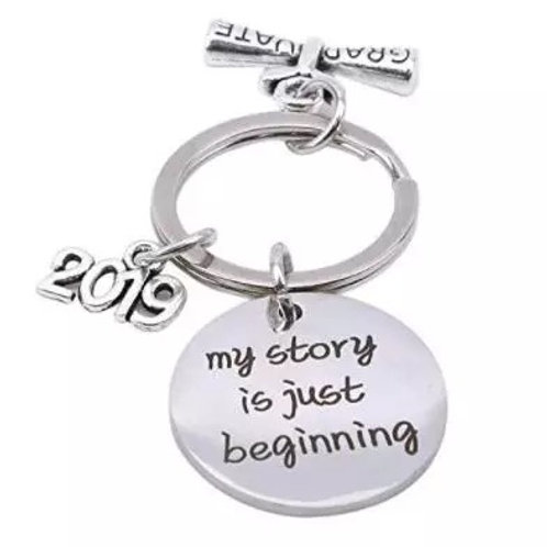 My Story is Just Beginning 2019 Keychain