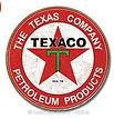 texaco the texas company round tin sign