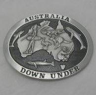 Belt Buckle Australian Aboriginal Pewter