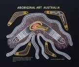aboriginal boomerang art